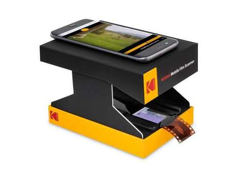 Smartphone-Powered Film Digitizers - The KODAK Mobile Film Scanner Helps Backup Old Negatives