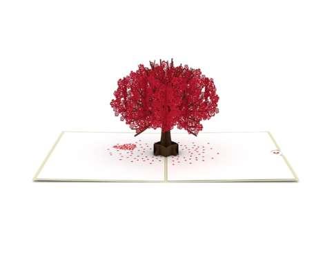 Cherry Blossom-Themed 3D Cards