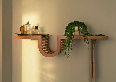 Curvaceous Flat-Pack Shelving