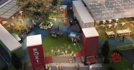 Shipping Container-Style Food Halls
