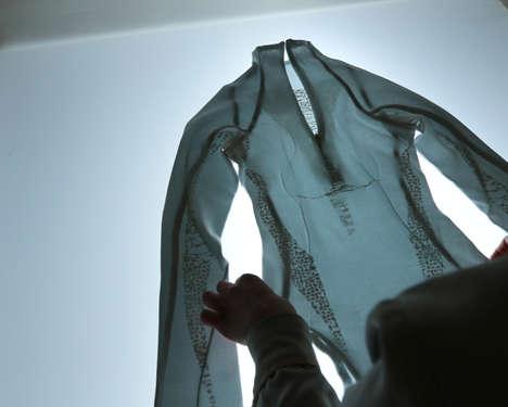 Live Bacteria-Woven Fabrics
