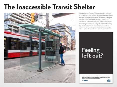 Inaccessible Bus Shelters