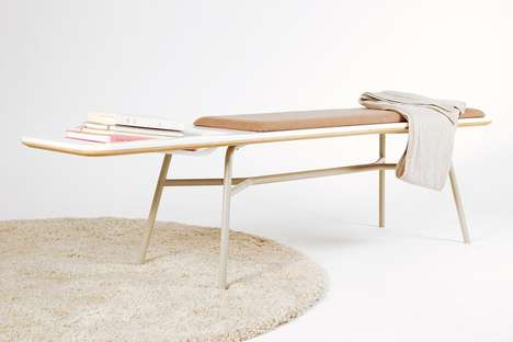 Minimalistic Book-Holding Benches