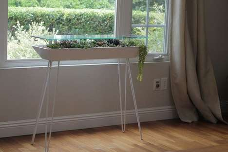 Planter-Integrated Side Tables