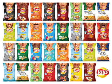 Grinning Potato Chip Packaging