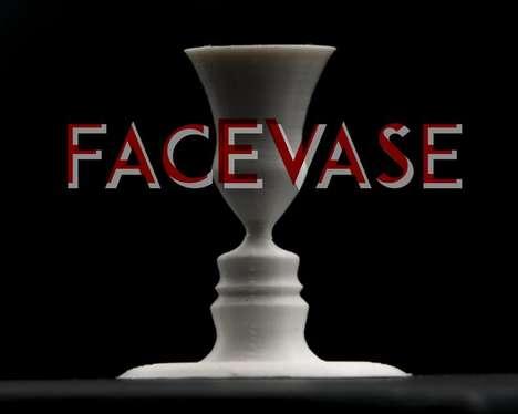 Custom Optical Illusion Vases
