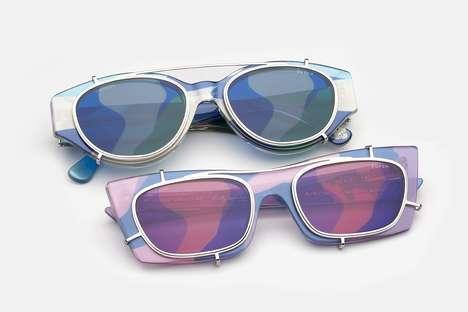 Pop Art-Inspired Camouflage Glasses