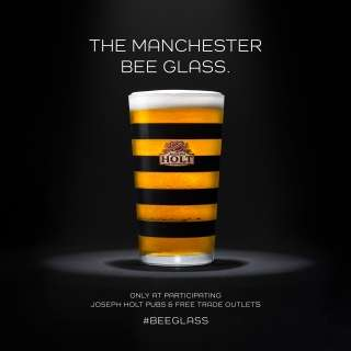 Bee-Themed Beer Glasses
