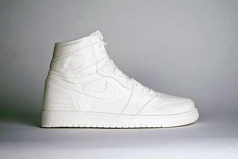 White Resin Sneaker Sculptures