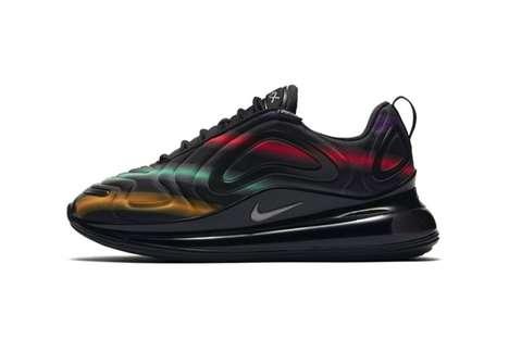 Neon Tonal Streak Sneakers