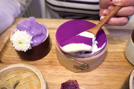 Purple Yam-Inspired Dessert Cafes