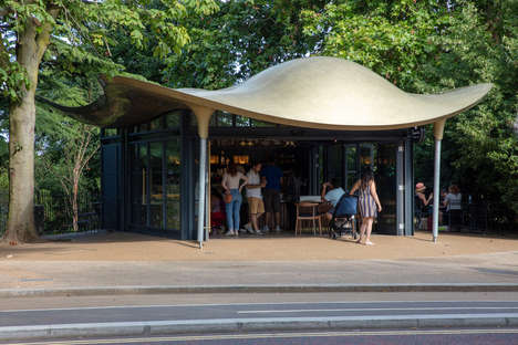 Stingray-Inspired Cafe Kiosks
