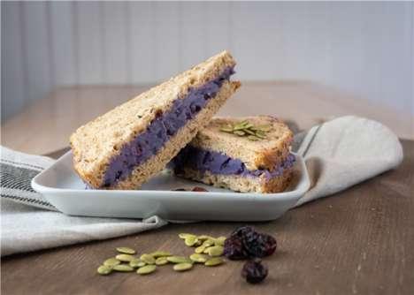 Purple Sweet Potato Sandwiches
