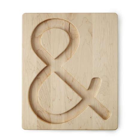 Ampersand-Shaped Serving Boards