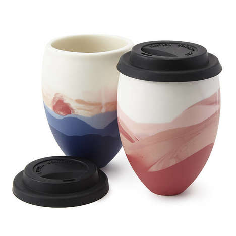 Sunset-Inspired Travel Mugs