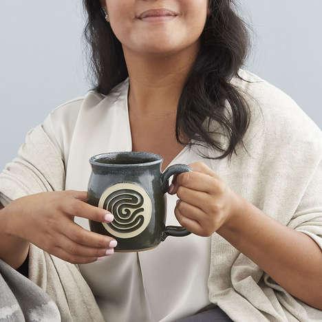 Labyrinth-Inspired Meditation Mugs
