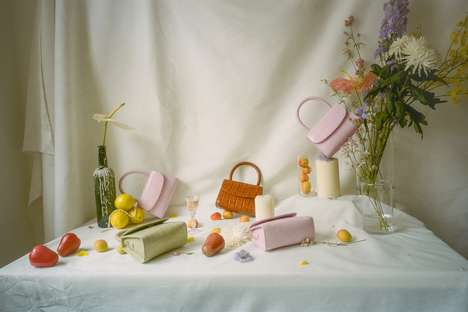 Pink Crocodile-Patterned Bags