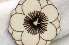 Papercraft-Inspired Jewelry - Emi Brooch and Hair Clip Oozes Delicate Femininity