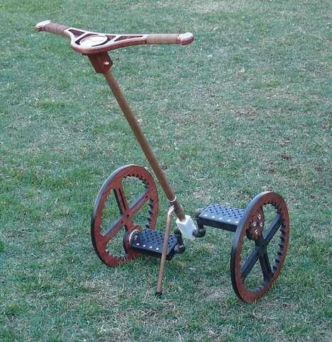 Steampunk Segways - The Pedal-Powered Wooden Legway