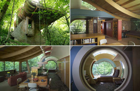 Jungle Architecture - The Lofted Forest Home by Rover Harvey Oshatz Inspired by Music
