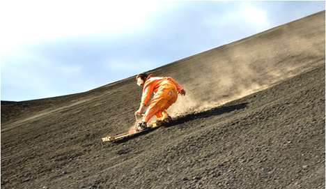 Volcano Boarding - Slide Down The 1600 Ft Slope of Cerro Negro Volcano at 50 mph