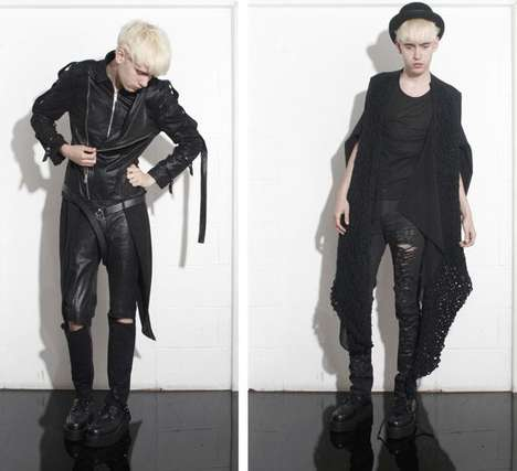 Androgynous Goth - S/S '09 Collection From Swedish Designer Lina Osterman