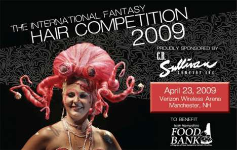 Cocky Hairdos - Feathery Finery Wins International Fantasy Hair Contest