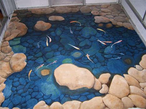 3D Floor Murals