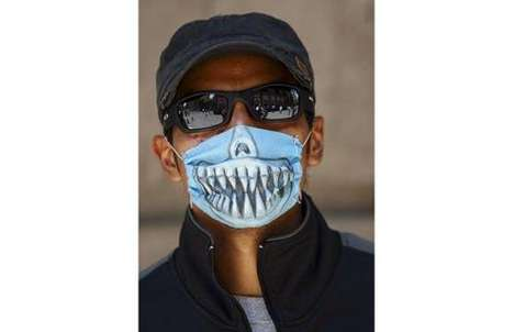 Superfluous Virus Prevention - Macabre Surgical Masks to Fend Off H1N1, aka Swine Flu