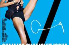 Bright Multiple Swimsuit Covers - V Magazine Shows Leggy Supermodels on 6 Covers