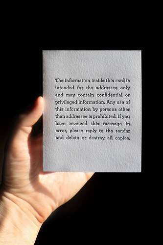 Privacy Disclaimer Stationery