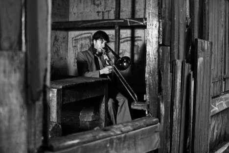 Desolate Musician Photography