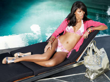 Sizzling Poolside Swimwear Ads - Emanuela de Paula Gets Comfortable for NEXT S/S '09