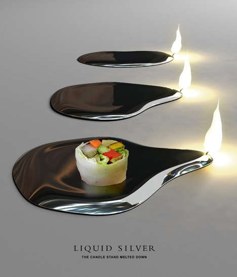Silver Plates as Candles - Stunning Table Accessories from Sono Mocci