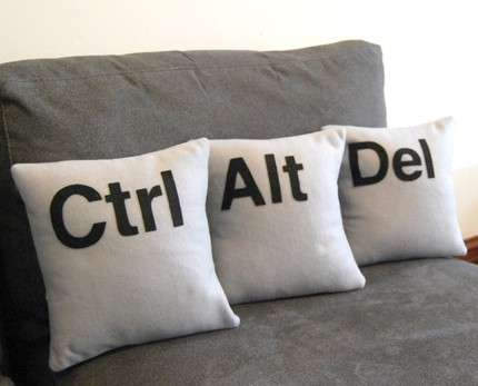 Geeky Pillows - Ctrl-Alt-Del Cushions are Perfect for Web Addicted Couch Surfers