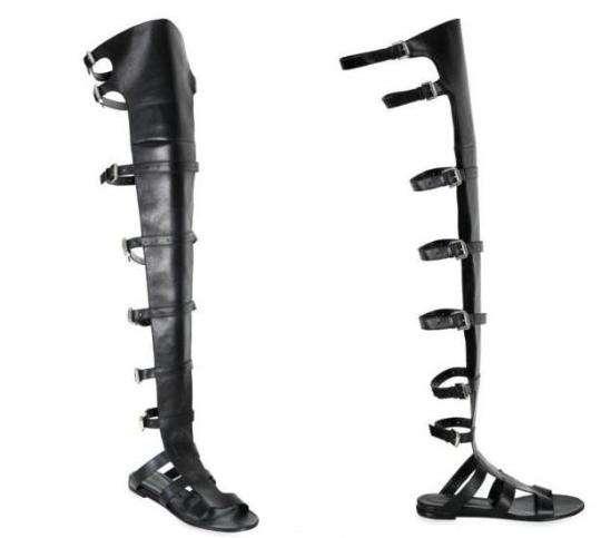 Thigh-High Gladiator Sandals: Alain