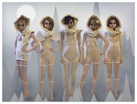 Human Dolls - Katie Gallagher Transforms Models Into Mannequins (UPDATE)