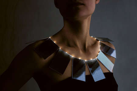 Solar Panel Necklaces - The Eco-Friendly Lux by Mae Yokoyama Emits Light at Night
