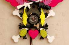 Punked Out Cuckoos - Cuckoo Clocks get a Funky Makeover With Graffiti Designs
