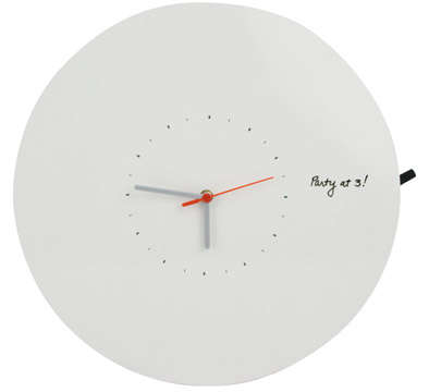 Dry-Erase Wall Clocks