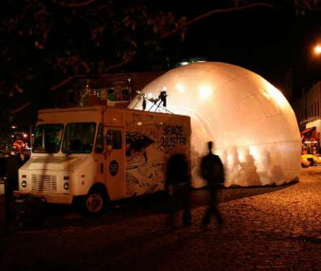 The Spacebuster is a Pop-Up Inflatable Bubble for Privacy