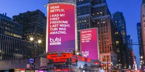 Humorous Streaming Service Billboards