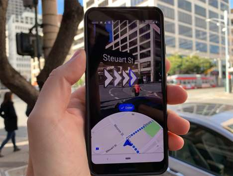 App-Based AR Walking Directions