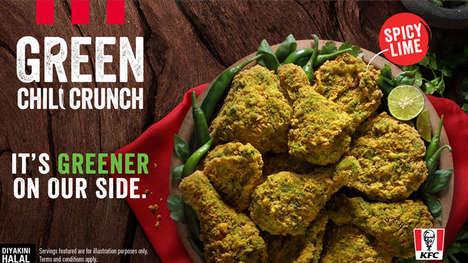 Spicy Green-Hued Drumsticks