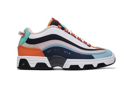 Vibrant Paneling Seasonal Sneakers
