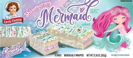Mermaid-Themed Snack Cakes