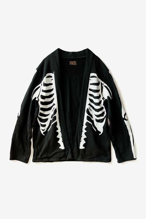 Soft Skeleton Graphic Shirts