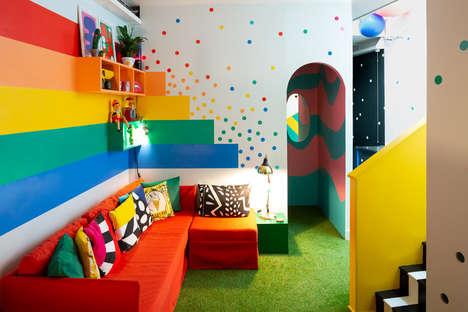 Expressive Rainbow-Inspired Abodes