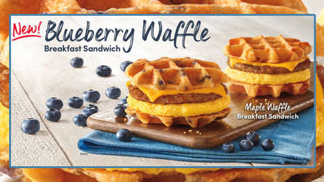 Waffle Bun Breakfast Sandwiches