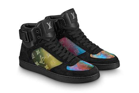 Iridescent Mongram Sneakers